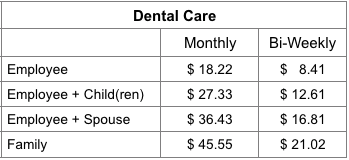 2018 DT Canada Dental Rates 12 20 17