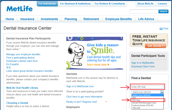 Metlife Insurance Quote Fascinating Dental Plans