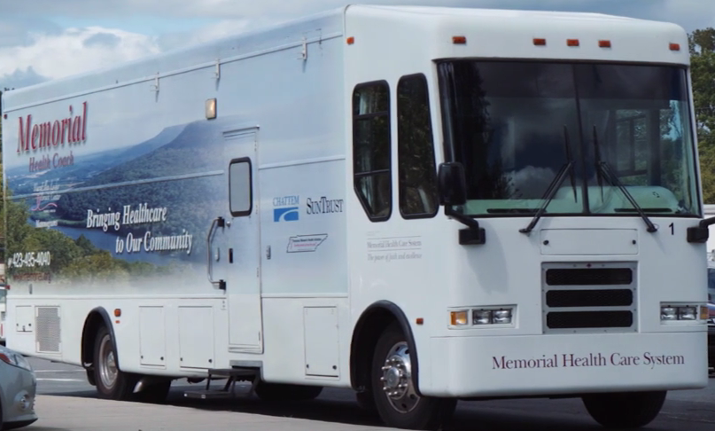 Mammogram van video still